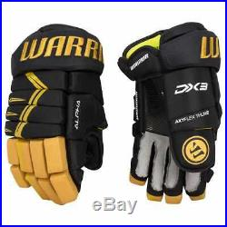 $129 New Warrior Alpha Black Gold DX 3 Ice hockey gloves 11 14 Senior Junior