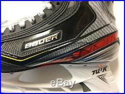 2020 Bauer Vapor 2X Pro Ice Hockey Skates Senior Size 9.0 D New Sharpened Adult