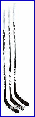 3 New CCM U+ 06 Sr hockey sticks OVI no grip 85 flex LH senior left ice stick