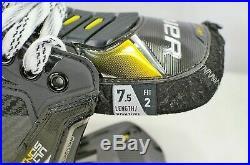 BAUER SUPREME ULTRASONIC ICE HOCKEY SKATES SENIOR Size 7.5 Fit 2