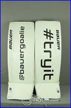 Bauer Supreme 2S Pro Goalie Leg Pads Senior Size Large White (1005-0679-H) DEMO