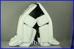 Bauer Supreme 2S Pro Goalie Leg Pads Senior Size Medium White (1005-0681-H) DEMO
