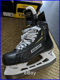 Bauer Supreme 2S Pro Senior Ice Hockey Skates 7 D (0827-0252) USED ONLY ONCE