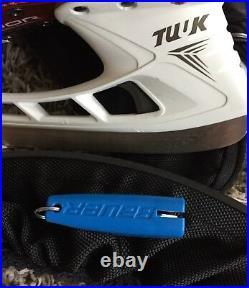 Bauer Vapor 1X Eishockey Schlittschuhe 45,5 Senior US10EE Ice Skates 1getragen