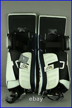 Brian's Optik 9.0 Goalie Leg Pads Senior Size 35+1 White/Royal (1005-0680-H)
