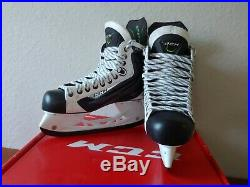 CCM Ribcor 50K White LE Pump Ice Hockey Skates. Limited Edition Senior 9 EE New