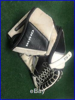 KOHO 570-L Pro Senior Ice Hockey Goalie Catcher Glove off hand White/black Used