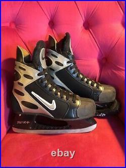 NIKE Ice Hockey Skates Black And Silver Senior Size 11