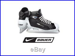 New Bauer One55 Ice Hockey Goalie skates size 11.5D Senior black/white men SR