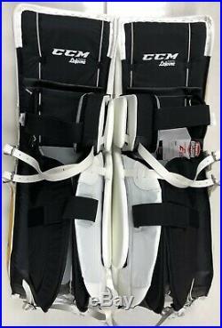 New CCM Extreme Flex E3.9 senior goalie leg pads 35+2 Sr ice hockey Yellow Gold