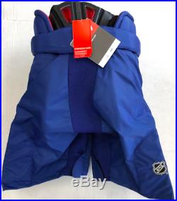 New CCM HP45X Edmonton Oilers Pro Stock/Return Ice Hockey Pants Senior XL+1 blue