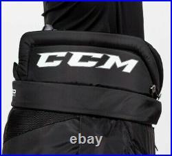 New CCM Premier R1.9 LE Senior Ice Hockey Goalie Pants Large Black SR L BLK Grey