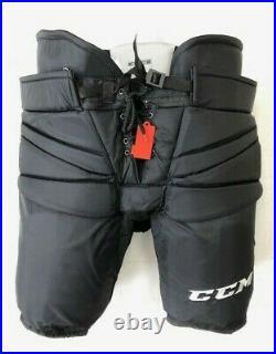 New CCM Pro Stock ice hockey goalie pants black HPG14A Fit 3 +1 senior Sr large