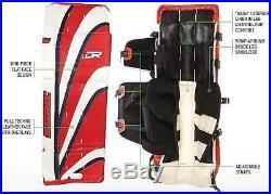 New DR Sonic X9 Sr ice hockey goal leg goalie pads 32 Red/Blue, 33 Black/White
