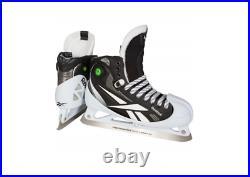 New Reebok 11k Hockey Goalie Skates Senior 11.5E wide black goal skate men pump