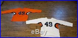 New Team Set of 18 Ice Hockey Jerseys Orange/White/Black Adult Senior Sizes
