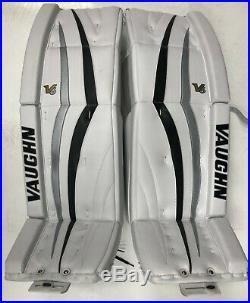 New Vaughn 1100 senior ice hockey goalie leg pads 35+2 Sr Velocity V6 Black/Sil