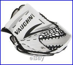 New Vaughn 7490 senior ice hockey goalie catcher glove reg white black silver