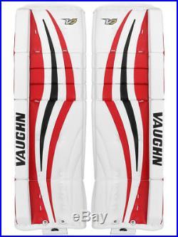 New Vaughn Xf Pro Sr goalie leg pads 32+2 Black/Red V7 Velocity senior hockey