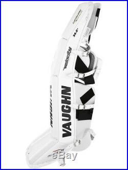 New Vaughn Xf Pro Sr goalie leg pads 34+2 All White V7 Velocity senior hockey