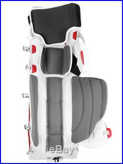 New Vaughn Xf Pro Sr goalie leg pads 34+2 Black/Red V7 Velocity senior hockey