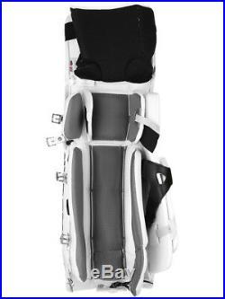 New Vaughn Xr Pro Sr goalie leg pads 32+2 All White V7 Velocity senior hockey