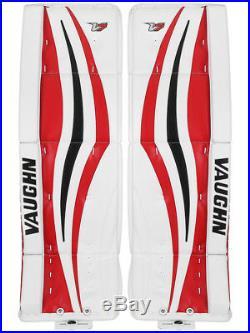 New Vaughn Xr Pro Sr goalie leg pads 32+2 Black/Red V7 Velocity senior hockey