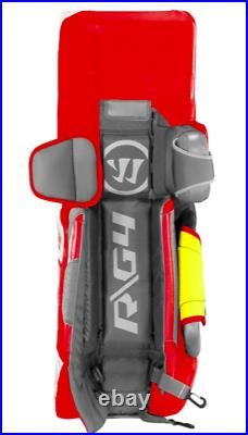 New Warrior G4 Pro Senior Hockey Goalie Leg Pads size 33+1.5 All White SR pad