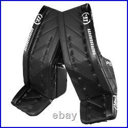 New Warrior G4 Pro Senior Hockey Goalie Leg Pads size 34+1.5 All Black SR pad