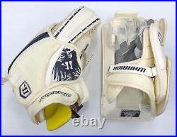 New Warrior Messiah Pro Hockey Goalie Blocker Catcher Set Senior SR Glove Navy
