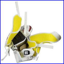 New Warrior Messiah Pro Hockey Goalie Blocker Catcher Set Senior SR Glove White