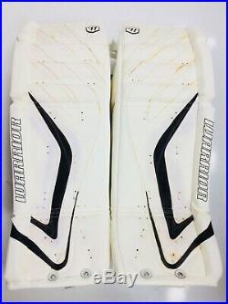 New Warrior Messiah Pro goalie leg pads white/black 33+1 ice hockey senior goal