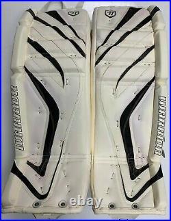 New Warrior Messiah Pro goalie leg pads white/black 34+1 ice hockey senior goal