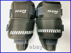 New Warrior Ritual G3 Pro Senior Hockey Goalie Leg Pads size 34+1.5 White Black