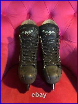 Nike Zoom Air Ice Hockey Skates Senior Size 9 Black And Silver Gretzky Federov