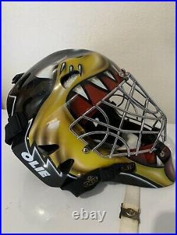 OLIE Goalie Helmet MA 2000 Ice Hockey With Certified Cats Eyes Mask Senior Large