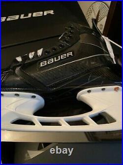 Personalized Bauer Supreme UltraSonic Senior Ice Hockey Skates 9 Fit 2 Gunmetal