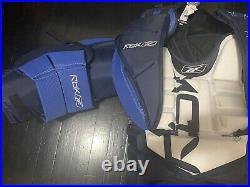 Reebok Ab Xpulse Sr 6.0 Sr-m Goalie Ice Hockey Goal Chest Pad Arm Pads Blue/whit