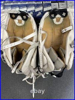 Senior Adult size 35 inch + 2 inch Reebok Larceny Ice Hockey Goalie Leg Pads