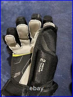 Senior Bauer Supreme Ice Hockey Gloves 2s Pro 14 Black Silver Grip Palm New