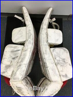 Senior Size 36 Inch + 1 Inch Bauer Supreme One. 5 Ice Hockey Goalie Leg Pads