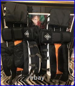 Senior Size 37 Inch ITECH The Spoiler Wedge GP7.8XW Ice Hockey Goalie Leg Pads