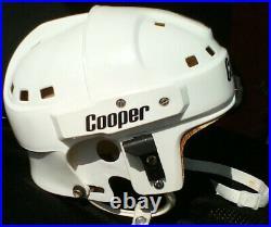 VINTAGE COOPER SK2000 SENIOR ADULT HOCKEY HELMET WHITE Large Kustom Composites