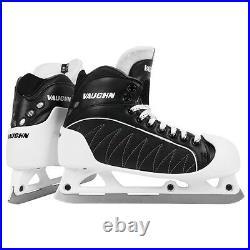 Vaughn GX1 Pro hockey goalie skates senior size 8 black new ice goal skate mens