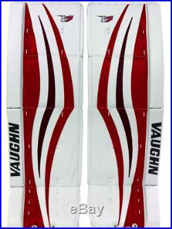 Vaughn V7 XR Pro sr / senior Leg Pads Ice Hockey goalie White Black Red