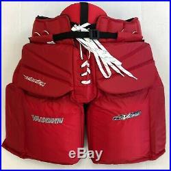 Vaughn V Elite XR Pro Carbon goalie pants Sr small 30 senior ice hockey red New