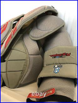 Vaughn Velocity V8 Pro Carbon Senior Chest and Arm Goalie Protector Medium