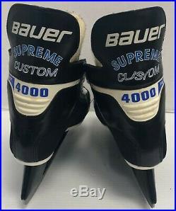 Vintage Bauer Supreme Custom 4000 Ice Hockey Skates senior size 8 vtg rare skate