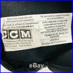 Vintage CCM Pro Stock 4ROLL ice Hockey Gloves Senior sr glove Black/White 14.5